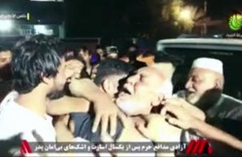 اشکهای بی امان پدر در پی آزادی فرزند مدافع حرمش