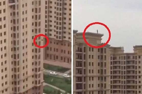 فیلم: واکنش باورنکردنی مرد سعودی به صحنه دلخراش خودکشی همسایه اش
