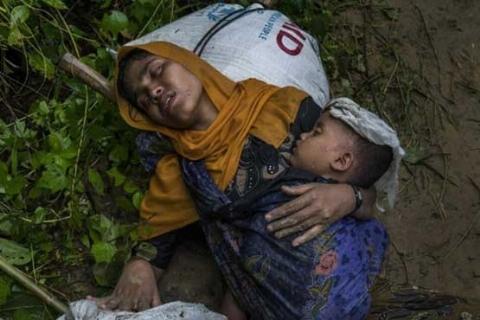جسدهای تکه تکه شده و بدن های سوزانده شده کودکان و زنان میانمار + ویدیو