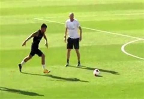 سوپرگل بازیکنان رئال مادرید در تمرین گلزنی برای بازی با فیورنتینا