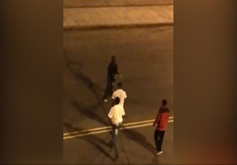 زیر گرفتن مردی که وسط خیابان دراز کشیده بود!