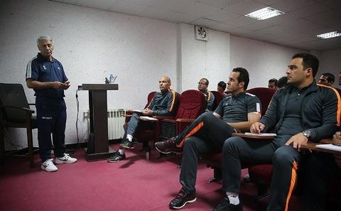 علی کریمی و پرسپولیسیهای سابق در کلاس مربیگری
