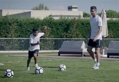 تمرینات حرفه ای و جالب پسر رونالدو