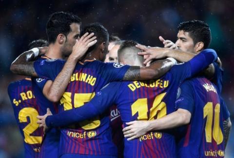 پیروزی بارسلونا ده نفره مقابل یاران کریم انصاری فرد در لیگ قهرمانان اروپا