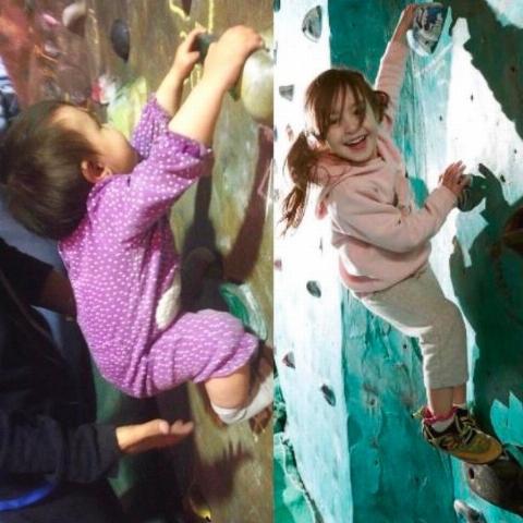 صخره نوردی شگفتانگیز دختر عنکبوتی 8 ماهه + فیلم