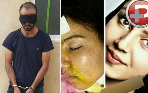 فیلم شرور سابقه داری که دختر زیبای ایرانی را با چاقو تکه تکه کرد/گرداندن مجرم در ملاء عام
