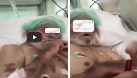 رفتار زننده پرستاران زن با یک پیرمرد در بیمارستان/فیلم