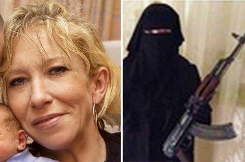 فیلم: آموزش های جنگی به تروریست های زن/ جلاد زن داعشی کشته شد