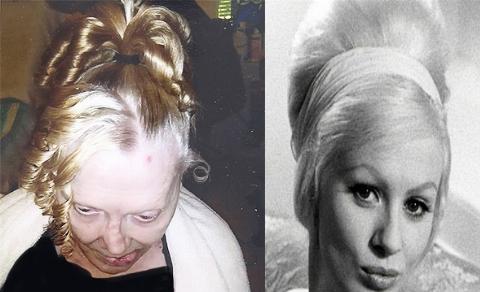 چهره ترسناک زیباترین بازیگر زن سینما یک روز پیش از مرگ
