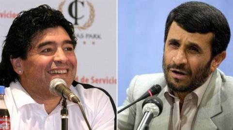 اسطوره فوتبال دنیا، شیفته احمدی نژاد!