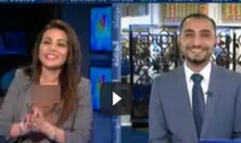 حرکات عجیب مجری عرب زبان در پخش زنده+فیلم