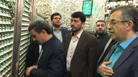 دلیل احمدینژاد و دوستان برای زنبیل به دست گرفتن و تحصن در حرم حضرت عبدالعظیم چیست؟