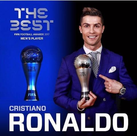 تداوم پادشاهی فوق ستاره پرتغالی؛ کریستیانو رونالدو بهترین بازیکن سال ۲۰۱۷ جهان