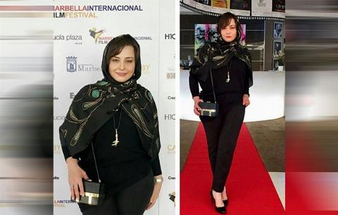 دفاعیات خانم بازیگر از لباس جنجال ساز در مراسم فرش قرمز جشنواره اسپانیا: می خواستم باحجاب باشم
