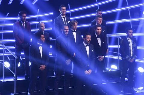 تیم منتخب سال ۲۰۱۷ جهان معرفی شد؛ حضور ۵ رئالی و ۳ بارسایی