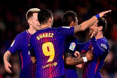 بارسلونا ۴ - ۰ دپورتیوو لاکرونیا؛ پیروزی پرگل در شب بدشانسی مسی