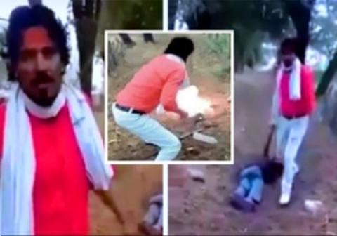 ویدئویی تکان دهنده از زجرکش کردن یک مسلمان توسط هندوی افراطی