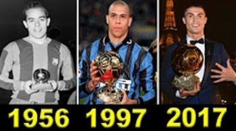 برندگان توپ طلا از سال 1956 تا 2017