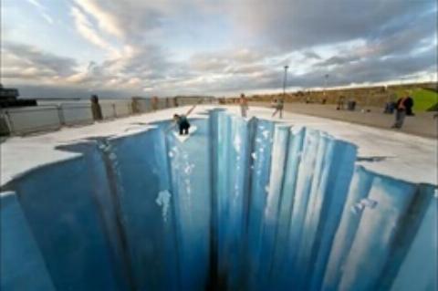 عصریخبندان، ترسناکترین نقاشی سه بعدی + فیلم