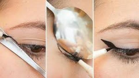 ترفندهای آرایشی با استفاده از قاشق!/کاربرد قاشق در میکاپ چشم+فیلم