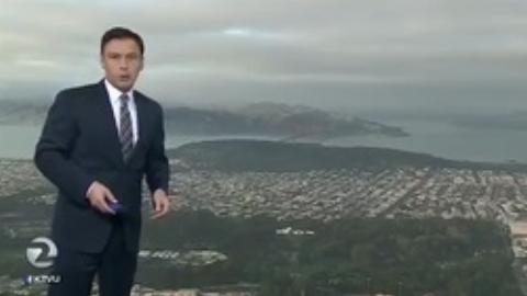 مهمان ناخواندهای که برنامه هواشناسی تلویزیون را به هم ریخت + فیلم