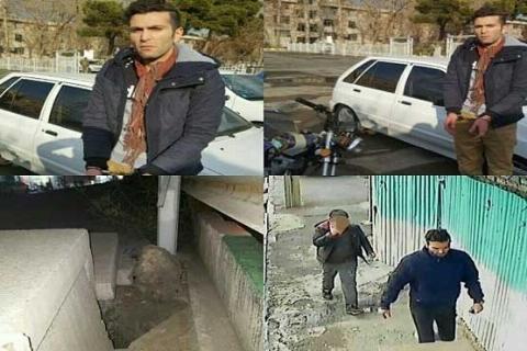 فیلم لحظه دستگیری جوان شیطان صفت در خیابان سراج