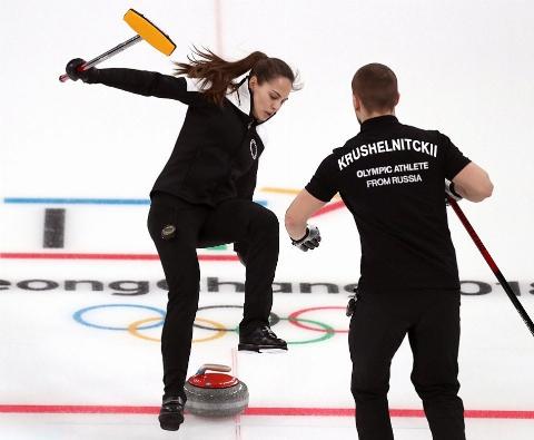 لحظه زمین خوردن عجیب ورزشکار زن در مسابقات المپیک زمستانی + فیلم