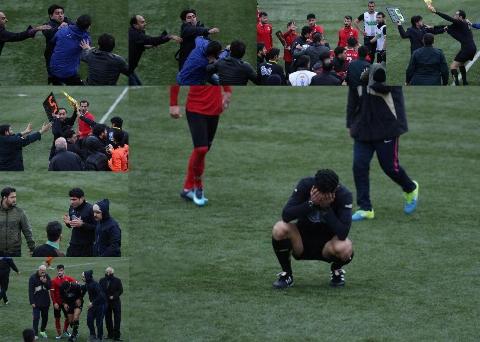 ضرب و شتم شدید داور لیگ برتری فوتبال ایران در یک دیدار محلی +فیلم