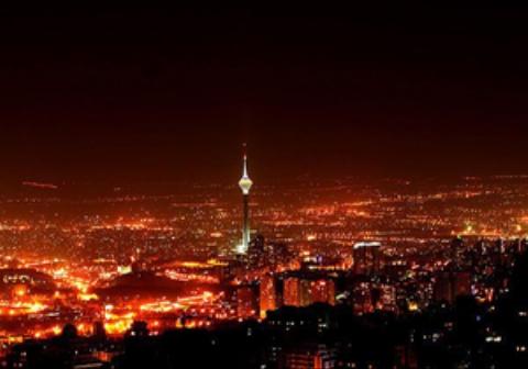 فیلم هوایی از تهران در آتش بازی شب چهارشنبه سوری