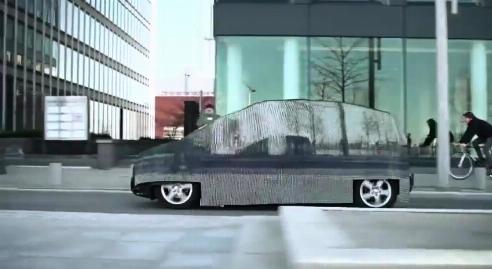 مرسدس یک ماشین نامرئی ساخت! + فیلم