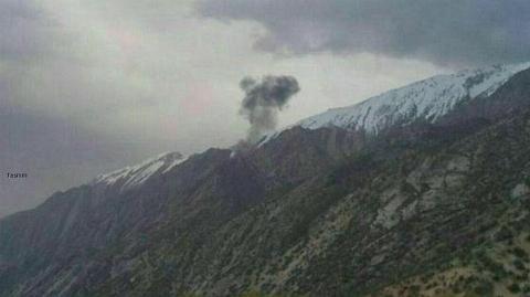 جزییات امداد رسانی پای هواپیمای ترکیه ای سقوط کرده در شهر کرد + فیلم