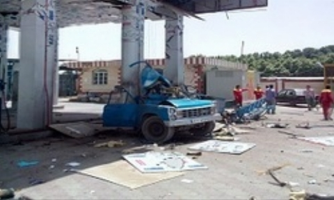 لحظه انفجار در جایگاه سوخت CNG بزرگراه یاسینی تهران + فیلم