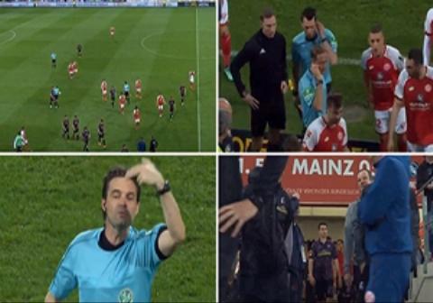 اتفاقی عجیب در تاریخ داوری فوتبال؛ اعلام پنالتی در بین دو نیمه/فیلم