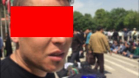 لحظه حمله دزد خشن به خانم خارجی در تهران+فیلم
