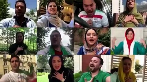 دابسمش زیبای بازیگران برای تیم ملی ایران