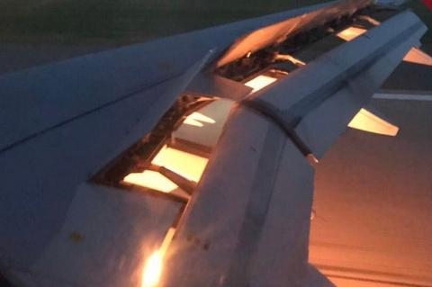 هواپیمای حامل بازیکنان تیم ملی عربستان دچار حریق شد