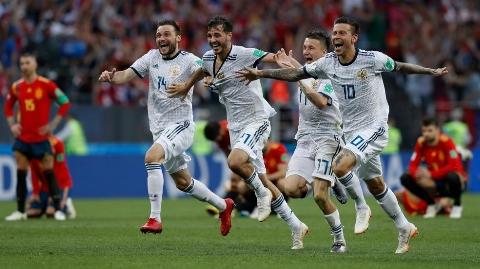خلاصه بازی اسپانیا 1 - روسیه 1 +  پنالتی ( جام جهانی 2018 روسیه )