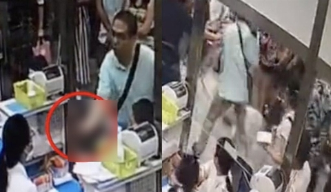 ویدیو؛ لحظه ضرب و شتم پرستار بیمارستان توسط همراه بیمار!
