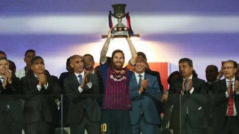 جشن قهرمانی بارسلونا در سوپرجام اسپانیا