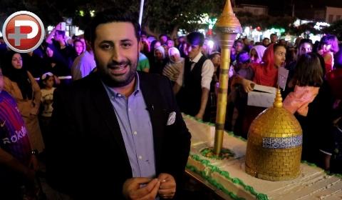 کادوی ۵۰۰ کیلویی؛ جشن تولد باشکوه برند شیرینی معروف تهران به افتخار امام رضا (ع)