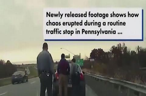 ویدیو؛ درگیری شدید پلیس و راننده خاطی که منجر به تیراندازی شد