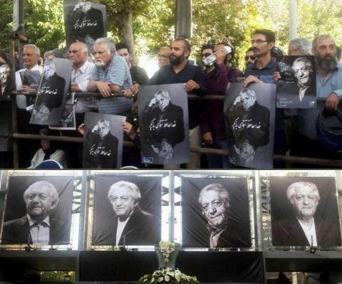 اولین ویدیو منتشر شده از مراسم تشییع پیکر استاد عزت الله انتظامی