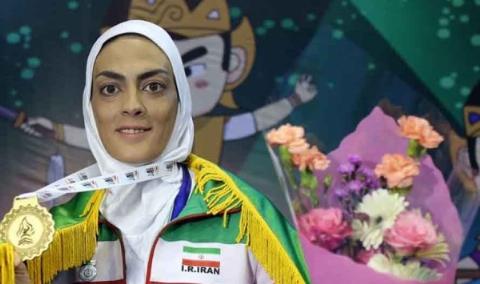 ناراحتی شهربانو منصوریان پس از کسب مدال نقره