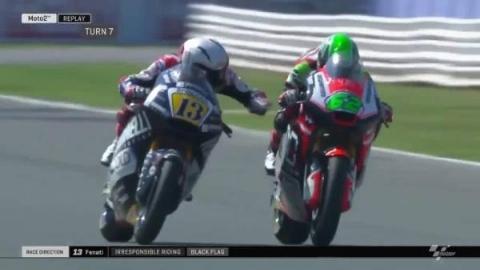 ویدیو پربازدید فضای مجازی؛ نامردی موتورسوار ایتالیایی با یک حرکت بی شرمانه در یک مسابقه