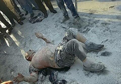 اولین ویدیو از خودسوزی فجیع صبح امروز در مقابل شهرداری تهران