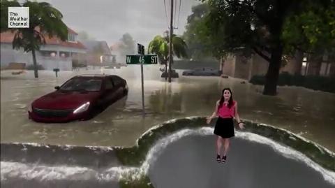 ویدیو: روش جدید و جذاب (سه بعدی) در نشان دادن وضعیت آبوهوا درتلویزیون آمریکا