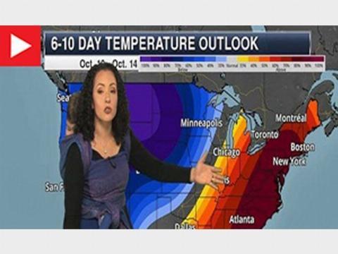 اقدام جالب کارشناس هواشناسی در اجراي زنده تلویزیونی