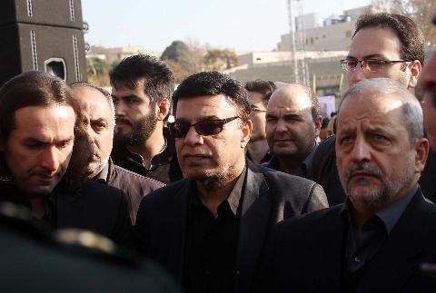 صحبت های پرویز مظلومی در  مراسم تشییع پیکر بهرام شفیع