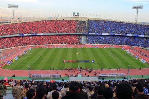 حال و هوای استادیوم آزادی قبل از دربی 88