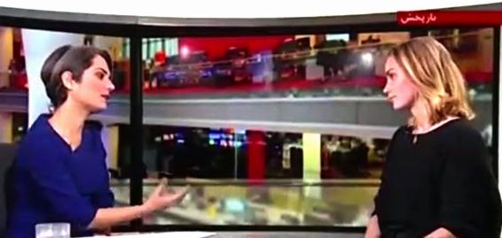 دختر گردشگر خارجی، از پس مجری بی بی سی فارسی برآمد/ تلاش خانم مجری برای بد جلوه دادن ایران و پاسخ قاطع دختر جوان